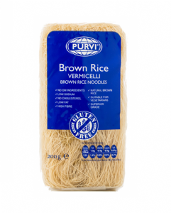 Brown Rice Noodles (Brown Fine Vermicelli) by Purvi | Buy Online at the Asian Cookshop
